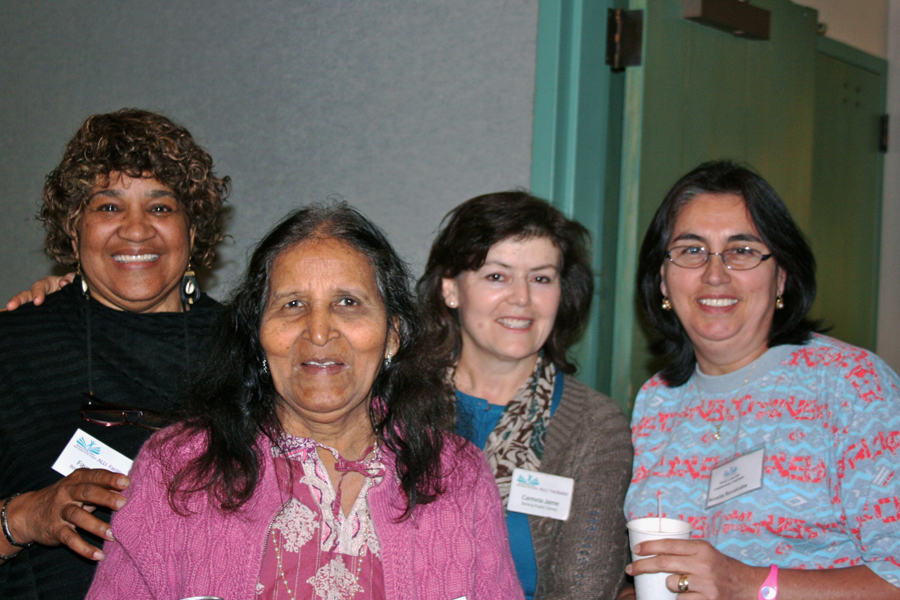 Four Women at Adult Student Leadership Workshop